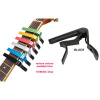 Guitar Capo Quick Post trigger release easy grip acoustic electric Black