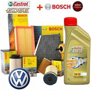 Kit tagliando olio CASTROL EDGE 5W30 5LT 4 FILTRI BOSCH VW GOLF 5 V 1.9 TDI