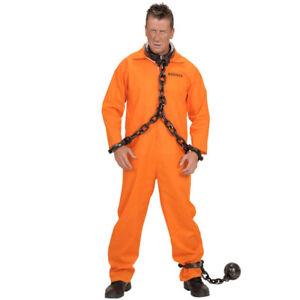Carnaval Costume Schwerverbrecher Prisonnier Condamné Détenus Prison, Orange XL