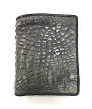 Gray Genuine Crocodile Alligator Skin Leather Men's Bifold Wallet