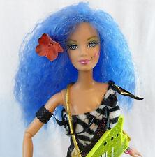"Ooak Jem Misfits 11.5"" Custom Stormer Doll 80's Punk Rock Pop Barbie Reroot"