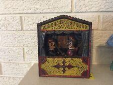 Punch & Judy Antique Cast Iron Mechanical Bank Large Letters C1888 Shepard