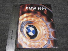 BMW 1994 Sales Brochure 8 Series 7 Series 5 Series 3 Series