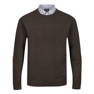 NEXT™ Mock Shirt Jumper New Button Collar Crew Neck Textured Long Sleeve Men Top
