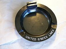 Rare Bakelite,Vintage Ashtray, With Matchbook Holder, United State Lines, Lewis