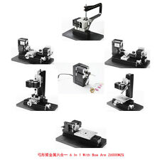 6 en 1 metal lathe milling drilling ponçage bois diy machine avec noeud-arm kit