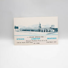 Vintage Currie's Santa Fe Restaurant Postcard Pacific Coast Hwy Long Beach Calif