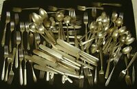 SILVERPLATE SILVERWARE LOT 114 Pieces TUDOR Spoon CRAFT Wedding 10.5+ Pounds