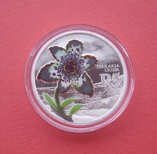 South Africa 2017 Starfish Lily 5 Rand Silver Proof Coin (Mintage 1400)