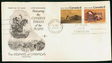 Mayfairstamps Canada Fdc 1972 Indians of the Plains Combo Rose Craft First Day C