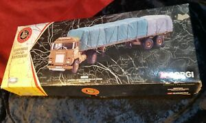 Corgi CC12603 Scammell Crusader Sheeted Flat Trailer for BRS, Eastern 1:50 Scale