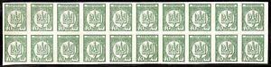 Ukraine 1918 National Republic 40 Shahiv  Mint No Hinge Block of 20