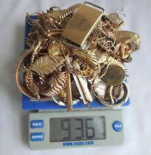 LOT 936 GRAMS Pocket Watch Jewelry 10k 12k 14k Gold Filled Scrap Recovery Gold