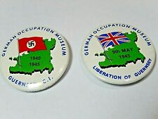 German Occupation Museum Pin Backs Lot of two Liberation of Guernsey C.I.
