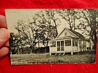 1918 Camp Independent, Salem, Wisconsin Real Photo Post Card in good used shape