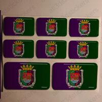 Pegatinas Malaga España Pegatina Bandera Adhesivo Ciudad 3D Relieve Resina
