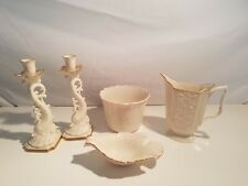 Lenox Pitcher, Bowl, Dolphin Candle Holders, Nut dish Floral Decoration