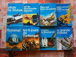 LOT 9 livres J AI LU LEUR AVENTURE.GUERRE. en bon état