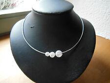 Silberschmuck 925 Sterling Silber, Collier, Omegakette/Draht-+Kugeln