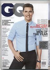 GQ Magazine December 2013 Matthew McConaughey Cover