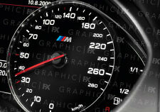 X8 premium bmw m sport logo voiture intérieur compteur de vitesse speedo decals autocollant mod