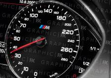 X8 PREMIUM BMW M Sport Logo Auto Interni Tachimetro Speedo Decalcomanie Adesivo MOD