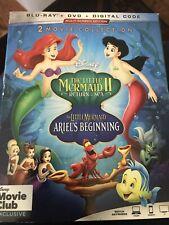 The Little Mermaid: Return to the Sea / Ariel's Beginning 2 & 3 (Blu-ray, DVD)