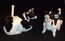 Otagiri Cow Sugar and Creamer Set Made in Japan Vintage 80's