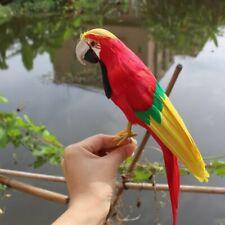 Artificial Colored Feather Parrots Garden Ornament Simulation Parrots Decoration