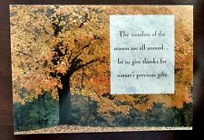 Marcel Schurman Traditional Thanksgiving Card and Envelope-Fall Leaves-Rare-New