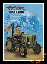 Carte postale affiche pub tracteur diesel HOLDER agriculture postcard Tractor