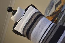 Abercrombie & Fitch Womens Tank Vest Top Medium Knit Turtle White Grey Sz Medium
