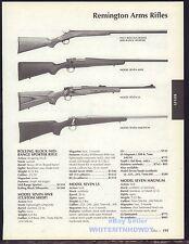 2006 REMINGTON No. 1 Rolling Block, Model 7 AWR, Seven LS & Magnum Rifle AD