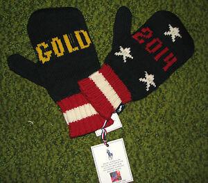 LIMITED EDITION Sochi Olympics 2014 TEAM USA Mittens POLO-RALPH LAUREN (S-M)