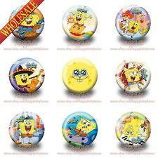 Hot 9PCS Spongebob Cartoon Pinbacks Buttons pins badges,30MM,Round Brooch Badges