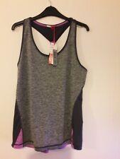 New listing Elle Sports Lightweight Colourflash Singlet size S (UK 10) Grey Racerback yoga