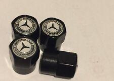 Mercedes Black Gloss Air Valve Dust Caps Car Wheel Tyre Caps 4 x pcs