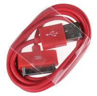USB Data Sync Charger Cable For Apple iPhone 4 4S 3G iPad 3 2 iPod Touch red FT