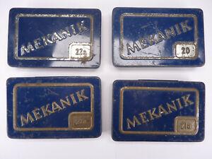 4x Blechdose - Mekanik Metallbaukasten
