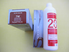 TWO 7W MATRIX SOCOLOR HAIRCOLOR PLUS ONE 16oz DEVELOPER NEW!