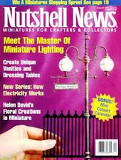 NUTSHELL NEWS MAGAZINE - MINIATURES FOR CRAFTERS & COLLECTORS 7 ISSUES 1997