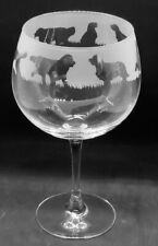 More details for golden retriever frieze boxed 70cl glass gin balloon