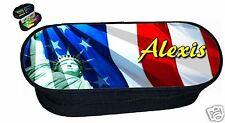 trousse a crayons  ECOLIER  REF 151 USA NEW YORK personnalisée avec prénom