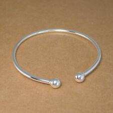 Solid Genuine 999 Fine Silver Torque Bangle Bracelet 54mm inside 2.5mm thick 9g