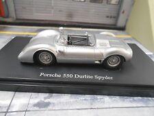 PORSCHE 550 Durlite Spyder 1969 silber Sportwagen Resin HQ Autocult 1:43