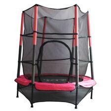 Jeux et activités de plein air rose avec trampolines