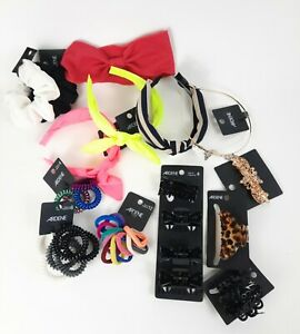 Ardene Hair Accessory Lot Clips Claws Barrette Scrunchies Band Pony Tail Ties