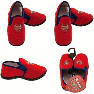 ARSENAL FC INFANT JUNIOR FOOTBALL BOOT SLIP ON BOYS GIRLS SLIPPERS FOOTWEAR AFC