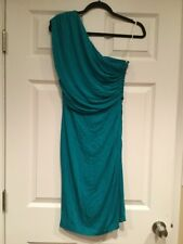 Plenty by Tracy Reese Anthropologie Jade Green One Shoulder Dress, Size M, NWT!