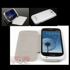 3200MAH EXTERNAL BACKUP BATTERY CHARGER POWER CASE COVER WHITE FOR GALAXY S3